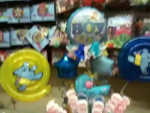 Armemos un arreglo para bebe niño con globos