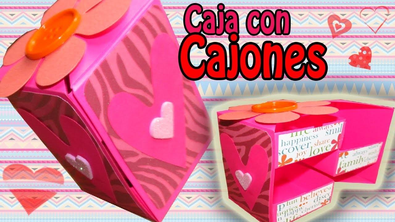 Caja de Regalo con Cajones!! (Manualidad para NAVIDAD).Secret Box.