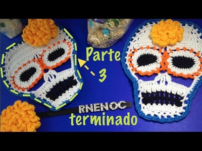 CALAVERA colorida  parte 3.3 Ganchillo Crochet TERMINADO