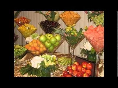 Centros de mesa hechos frutas