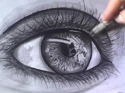Como dibujar un ojo realista - Como hacer ojos a lapiz
