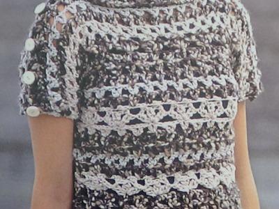 Como hacer jersey punto combinado a crochet