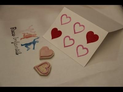Cómo hacer un sello de goma con forma de corazón I