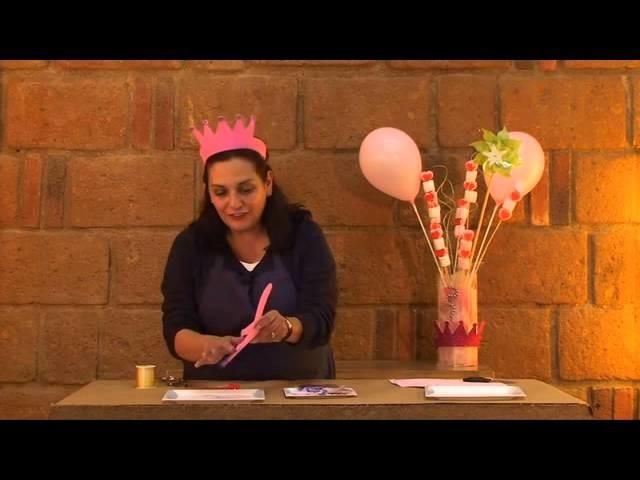 Cómo hacer una corona de foamy para fiesta de princesa