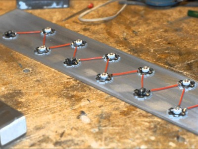 Como hacer una lampara LED Alta potencia DIY