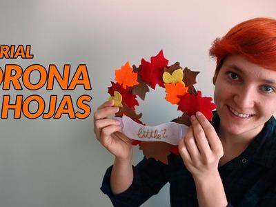 Corona de hojas | Manualidades con fieltro | Manualidades fáciles
