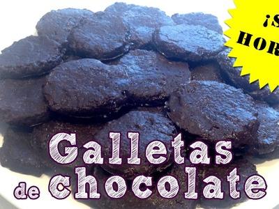 Galletas de chocolate sin horno : Receta muy fácil
