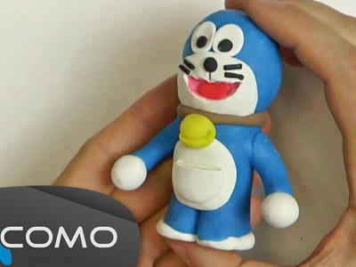 Hacer a Doraemon con plastilina