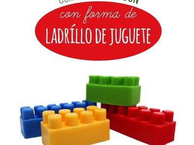 Hacer jabón con forma de Ladrillo de juguete