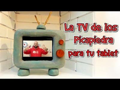 Manualidades DIY: Funda para tu tablet o Ipad. La televisión de los picapiedra (flintstones)