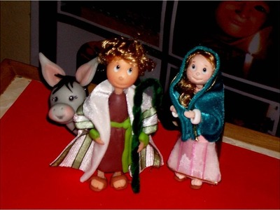 Manualidades Navideñas Nacimiento  de  Porcelana Fría