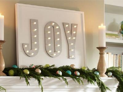 Marquesina navideña con luces