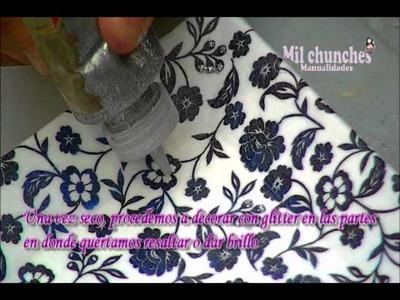 Paso a paso de decoracion de jabon y ceramica con la tecnica decoupage