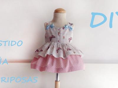 Realiza un vestido niña de mariposas?. Paso a paso en patronesmujer.com