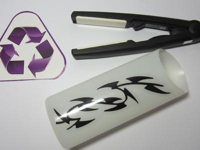 Reciclaje: Porta plancha para el pelo.