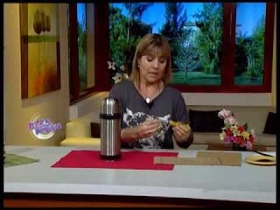 Silvina Buquete  - Bienvenidas TV - Decora un termo en cestería.