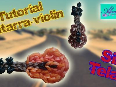 ♥ Tutorial: Guitarra.Violín de gomitas (sin telar) ♥