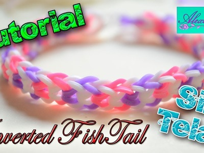 ♥ Tutorial: Pulsera Inverted FishTail de gomitas (sin telar) ♥