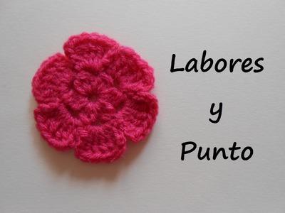 Aprende a tejer flor sencilla a ganchillo o crochet