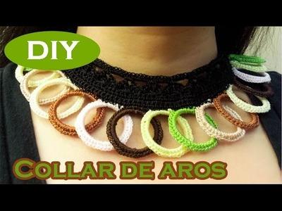 #Collar #Aros de plástico #reciclaje