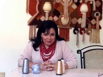 Collar de espuma de mar tejido en gancho - Tejiendo con Laura Cepeda