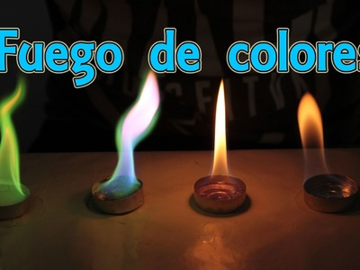 Cómo hacer fuego de colores (Experimentos Caseros)