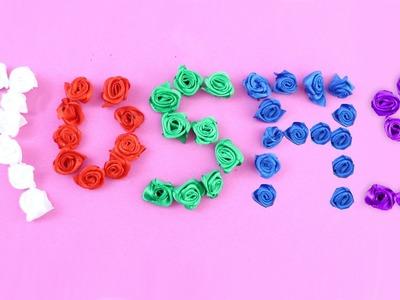 Cómo hacer rosas pequeñas con listón de seda, satín o - Manualidades de rosas