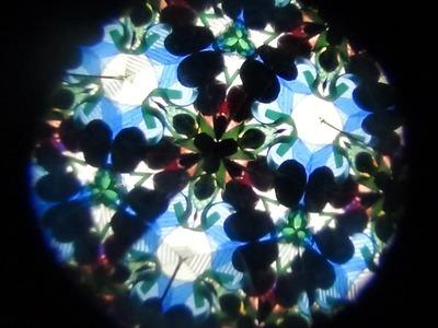 Cómo hacer un caleidoscopio con material reciclado How to make a kaleidoscope
