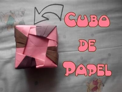 Como hacer un Cubo de Papel