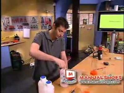 Como hacer una lampara de lava parte 2