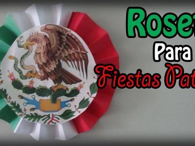 Decoración para Fiestas Patrias! (Roseta de 3 colores). Floritere