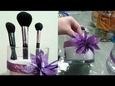 Episodio 541- Cómo hacer un organizador de brochas para maquillaje lindisimo dedicado a mi hermana