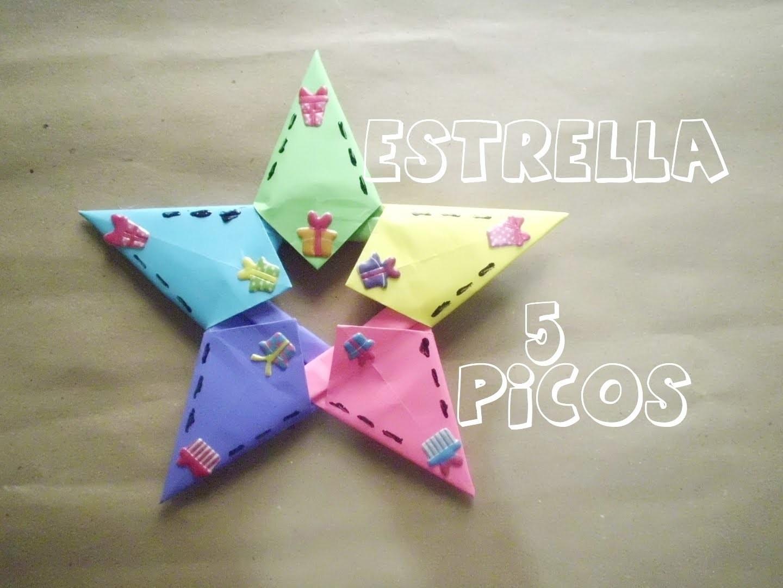 Estrella de Papel - 5 picos