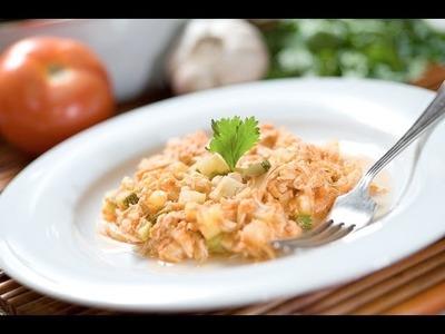 Guiso de pollo deshebrado - Chicken stew - Recetas de pollo