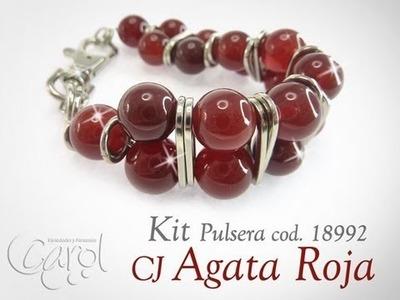 KIT 18992 Kit pulsera CJ agata roja x und