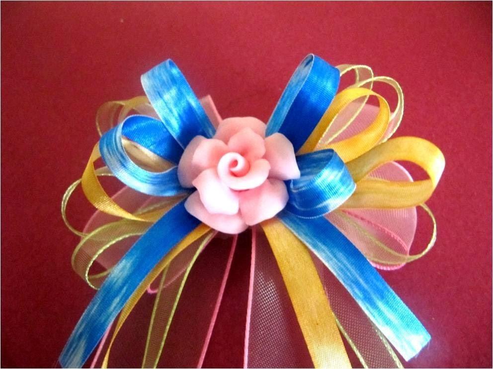 Moños y lazos para el cabello rosas de porcelana