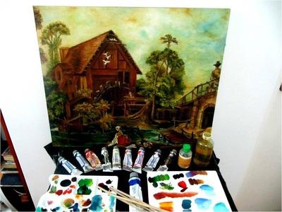Pintura al óleo como mezclar colores  materiales y matizes paso a paso