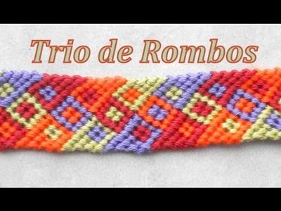 Pulsera de Hilo: Trio de Rombos