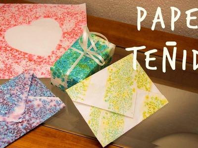 Técnica para teñir papel, ideal para San Valentín!!  (Juno)