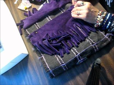 Tutorial como hacer un bolso con flecos usando materiales reciclados