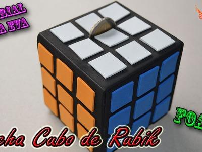 ♥ Tutorial: Hucha cubo de Rubik de Goma Eva (Foamy) ♥
