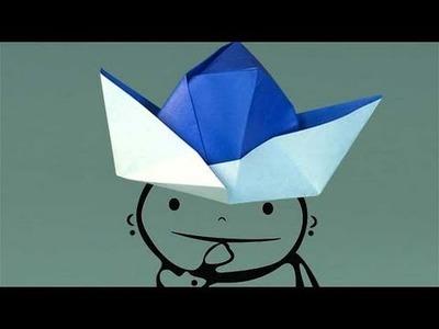 Un sombrero de papel, papiroflexia