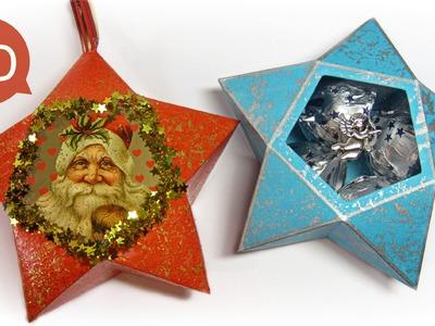 Adornos de Navidad: Cómo hacer estrellas de papel y para hacer regalos.