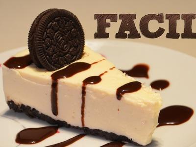 Cheesecake de Oreo SIN HORNO | Pay de queso Oreo | Pie de queso con galletas | Postres sin hornear
