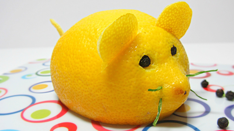 Cocina: Cómo hacer un ratón limón. Mouse lemon.