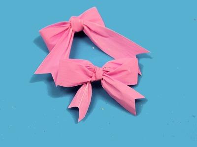 Cómo hacer lazos faciles con un tenedor. Little ribbons