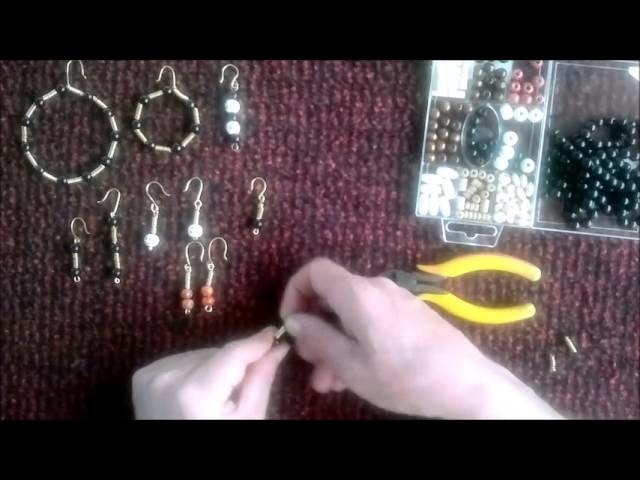 Como hacer pendientes. How to make earrings.