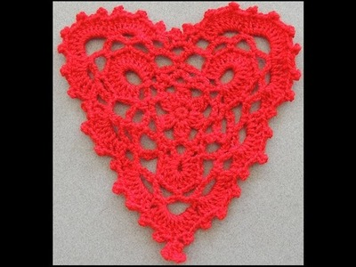 Crochet : Corazon # 3.  Parte 2 de 2