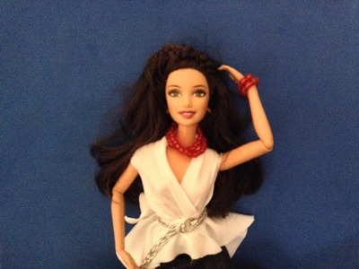 EPISODIO 46.COMO HACER BLUSA SIN COSER PARA MUÑECAS BARBIE Y7 MONSTER HIGH