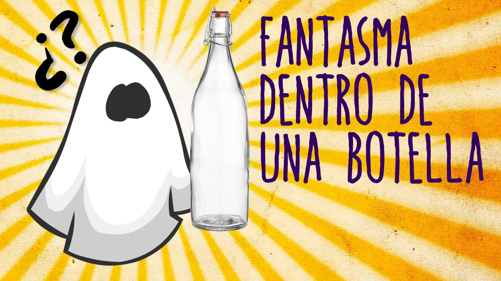 Fantasma atrapado en una botella (Halloween para niños)